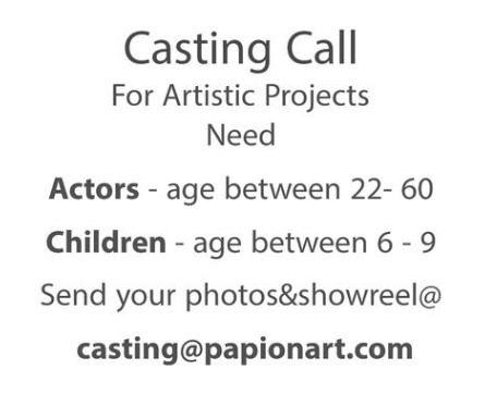 Casting All The Year- Open Call
